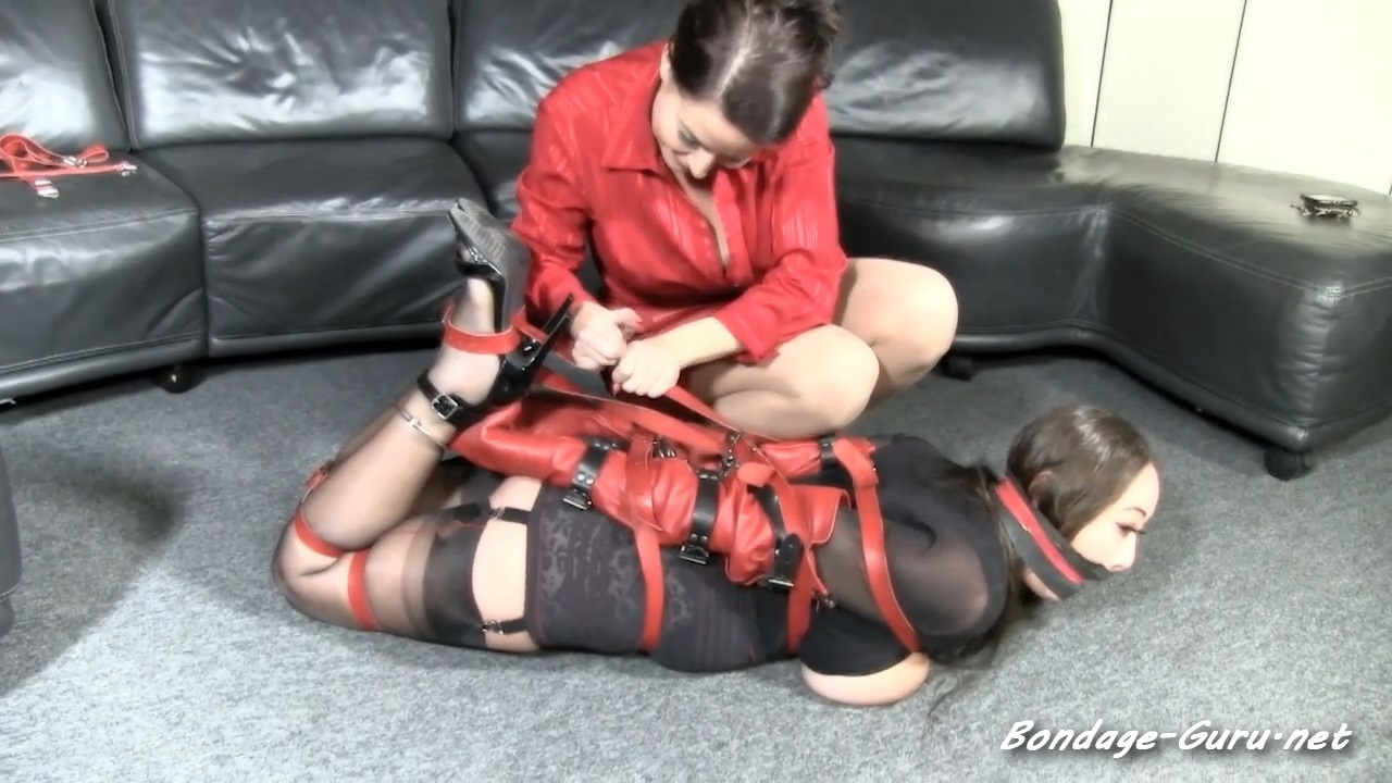 Nyssa is a knockout well gagged in leather