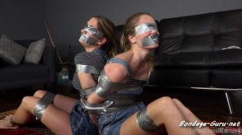 Taped Back To Back In Overalls – Chrissy Marie, Star Nine