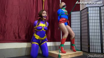 Arielle Aquinas and Luci Lovitt.. A Trap For Batgirl – ShinyBound Productions