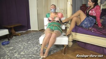 Lubed up boobs & a real big gag for Riley – Born to be Bound