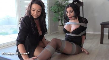 Pretty brunette hogtaped with her perfect DDs exposed – Bondage: JJ Plush, Born to be Bound