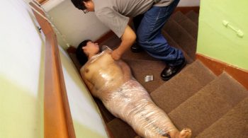 Latin Fetish Dolls – Maritza's plastic wrap tickle – Bonus different angle