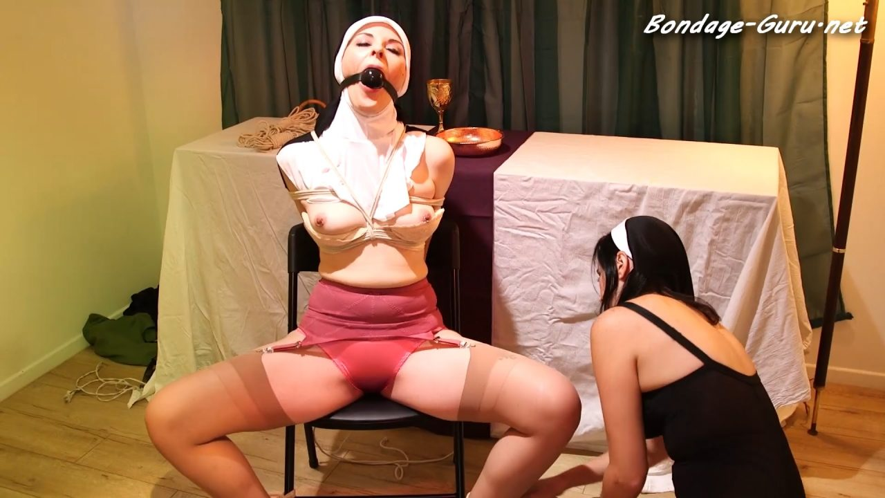 Naughty Nun Caroline Gets Punished By Mother Superior FULL