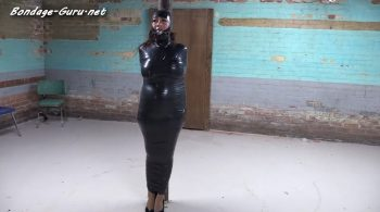 Nyssa Nevers mummified at the post – Bondage: JJ Plush, Born to be Bound