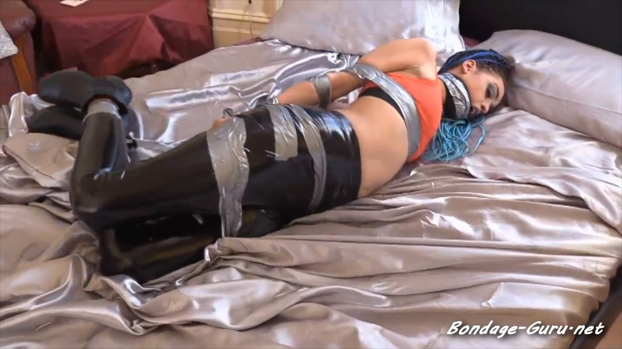 FIFI TAPED UP IN BOOTS AND DOUBLEGAGGED full