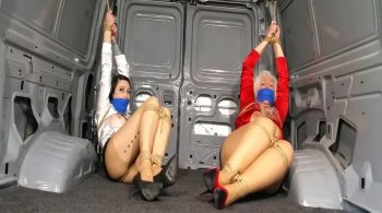 Snatched Secretaries Surprised with Bound Van Ride! Blouses Torn! Aggressive Gags! Predicament Bondage Peril! #2236