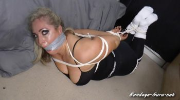 Borderland Bound – Kellie in: WorkOut Return – Without the Wind-Down: Crazed Intruder Binds & Gags her Mouth So Hard She Sees the Stars!