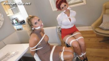 Borderland Bound – Lady Vixen & Brook in: Total NewsRoom Invasion! Hot Chicks Get Tied Up & Gag-Talk Their Way Through a Most Unusual Robbery Ordeal!