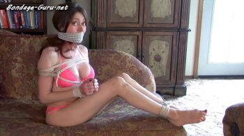 Nanny Natasha Flade Plays Tie-Up Game In Bikini, Gets Hogtied For Hopping Away! – Bondage by Centaur Celluloid