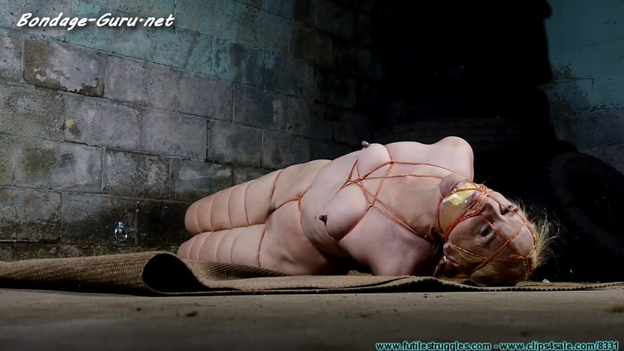 Ariel Suffers in a Thin Twine Nude Hogtie