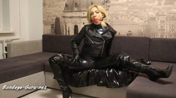 Leather Latex Love – Ballgagged, bounded and drooling
