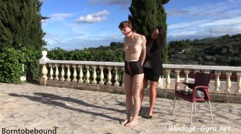 Muriel outdoors – Bondage: JJ Plush, Born to be Bound
