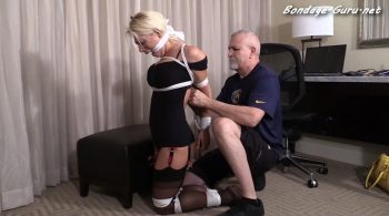 Girl Next Door Bondage – Busty blond roughly tied up and left chewing on a par of panties