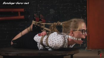 Hogtied Olesya on our new turntable device Full HD – RF studio production