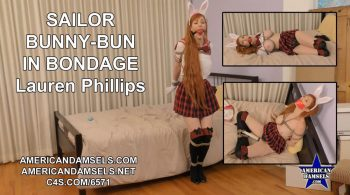 AMERICAN DAMSELS by Jon Woods – Sailor Bunny-Bun In Bondage – Lauren Phillips