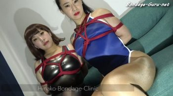 Nose Hooks and Gags Galore, 2 Japanese Girls Bound Together and Toyed With by Gang of Masked Men Part: 2