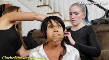 Sahrye – No! Not My Pantyhouse! – Cinched and Secured