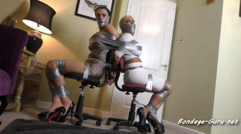 Borderland Bound – Kaitlin & Leah in: Toasting Attorneys Toasted: One Heavy Night Of Buxom Skin Tight Tape Terror!