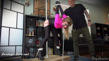 Dresden.. Slave Girl Post Tied in 2 Positions – ShinyBound Productions