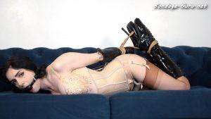 Miss Ellie M Helpless girl in bondage