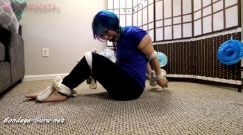 NikkiPresents – Tied Up in Hooters Socks and Ball Gagged