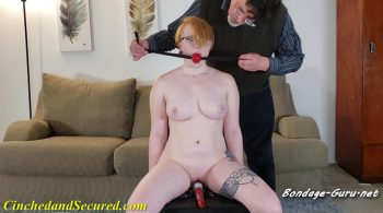 Izzebella Robbins – Handcuffed Redhead Made To Cum – Cinched and Secured