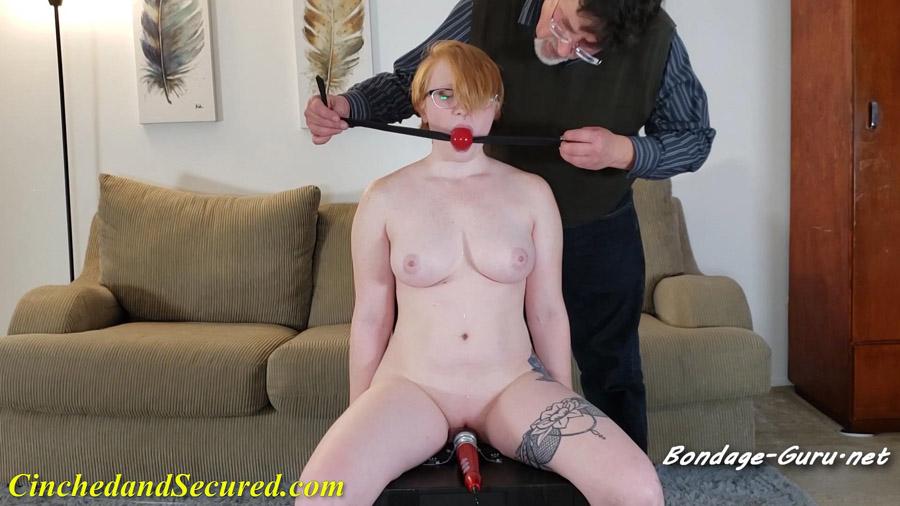 Izzebella Handcuffed Redhead Made To Cum