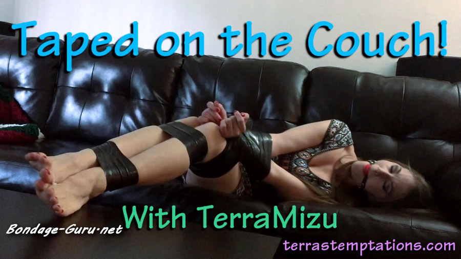 Terra Mizu Taped on the couch