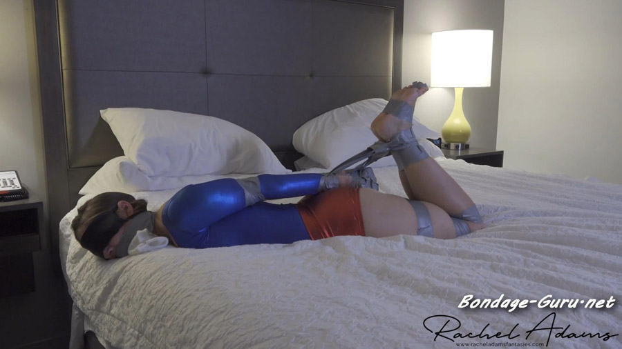 Ultra girl tape tied and feet worshiped
