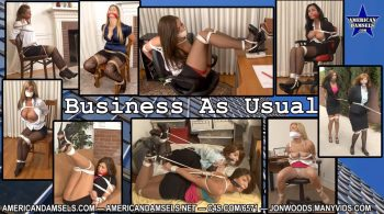 AMERICAN DAMSELS by Jon Woods – Business As Usual – Complete & Remastered