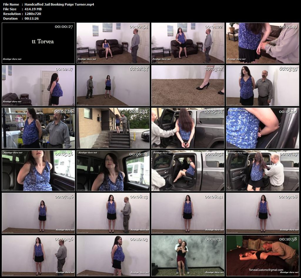 Handcuffed Jail Booking Paige Turner.mp4