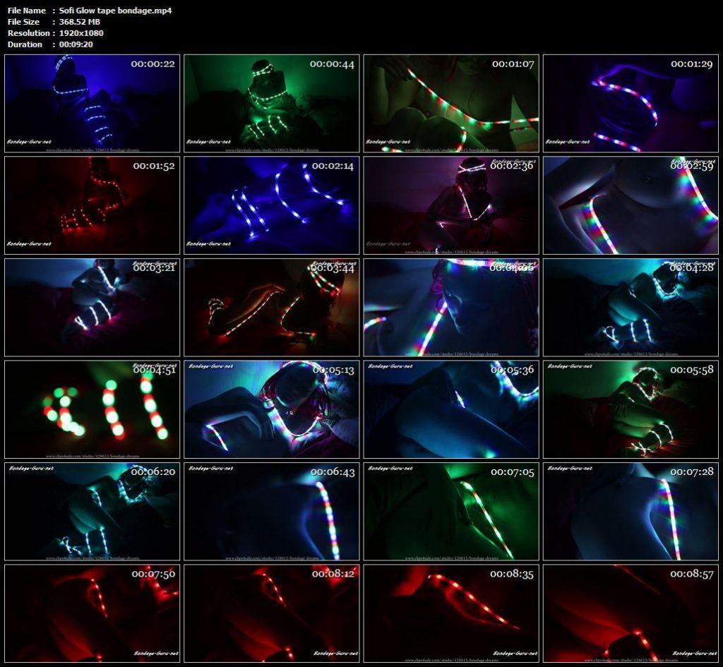 Sofi Glow tape bondage.mp4