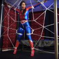 Spidergirl Caught in Her Web