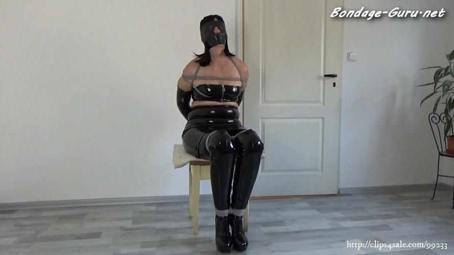My amateur bondage July 16 2021 PVC wife