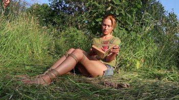 Sofi – Bondage reading in the park – Part 3